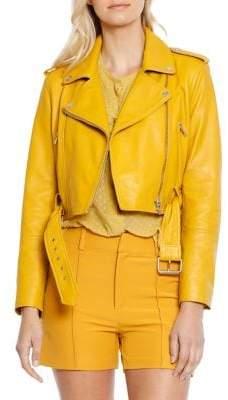 Walter Baker Shirley Leather Moto Jacket