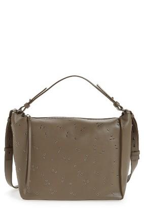 Allsaints Junai Studded Leather Crossbody Bag - Grey $378 thestylecure.com