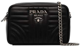 7afe8178c89 Prada black Diagram small quilted leather cross body bag