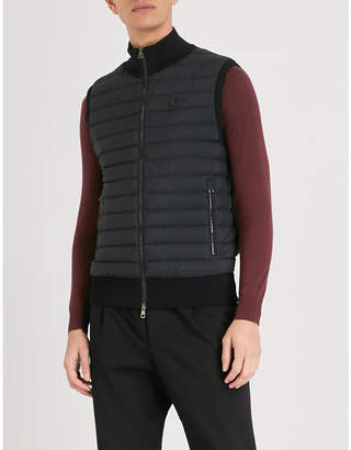 Moncler Quilted shell and knitted gilet