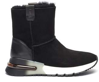 Ash 'Kyoto' shearling lined suede ankle boots