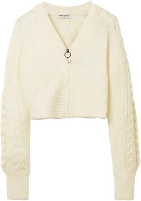 Opening Ceremony Cropped Cable-knit Wool-blend Cardigan