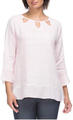 3/4 Sleeve Linen Tunic Top