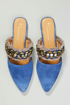 Anthropologie Delilah Embellished Slides