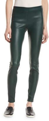 Vince Leather Zip-Cuff Leggings