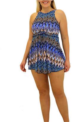 Fit 4 U Sand N Sea High Neck Baby Doll Dress Women Swimsuit