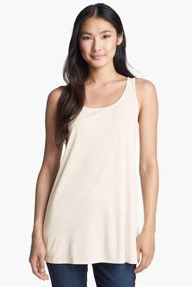 Eileen Fisher Scoop Neck Silk Tunic (Petite)