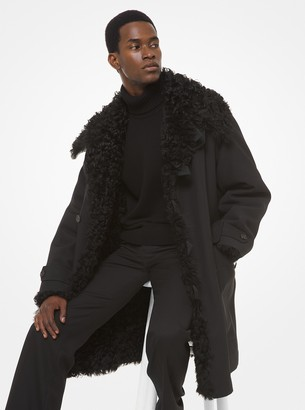 Michael Kors Wool and Cotton Shearling-Lined Coat