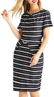 Yumi Striped Tulip Dress, Black