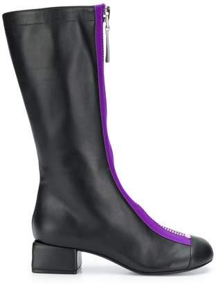Marni zip front mid-calf boots