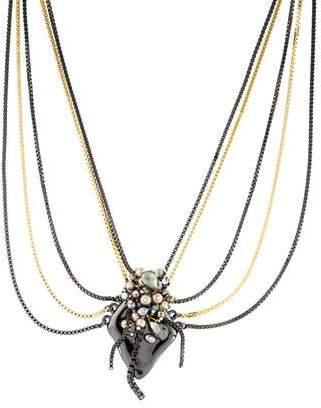 Alexis Bittar Multistone, Pearl & Crystal Pendant Necklace