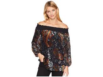 Tribal On and Off Shoulder Blouse