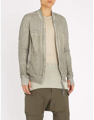 Boris Bidjan Saberi Panelled cotton-knitted bomber jacket