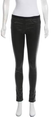 Helmut Lang Faux Leather Skinny Pants