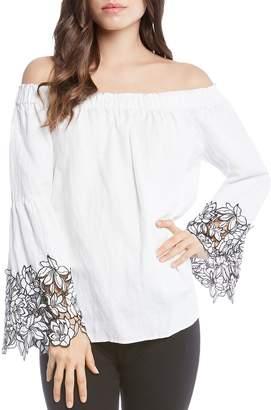 Karen Kane Off-the-Shoulder Floral Cuff Top
