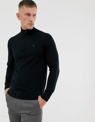 Calvin Klein half zip jumper in black