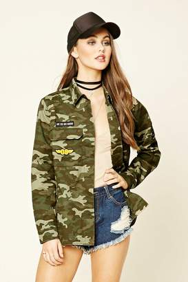 FOREVER 21+ Feelin' Alive Camo Print Jacket $34.90 thestylecure.com