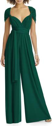 Dessy Collection Convertible Wide Leg Jersey Jumpsuit