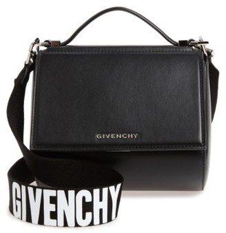 Givenchy Mini Pandora Box Leather Shoulder Bag - Black $1,850 thestylecure.com