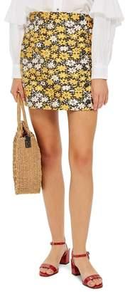 Topshop Daisy Jacquard Miniskirt