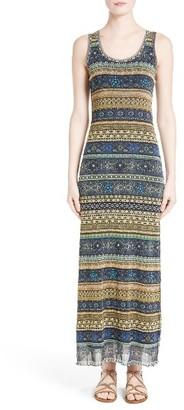 Women's Fuzzi Jewel Stripe Print Tank Dress $445 thestylecure.com