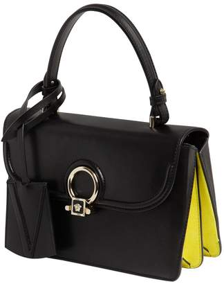 Versace Small Donatella Leather Top Handle Bag