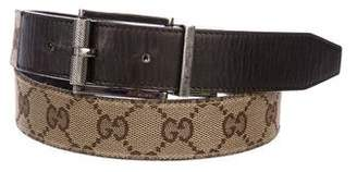 Gucci Monogram Leather Belt