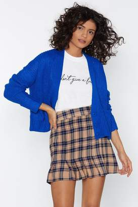 Nasty Gal Do As You Pleat Check Skirt