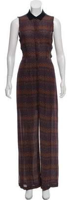 A.L.C. Silk Button-Down Maxi Dress