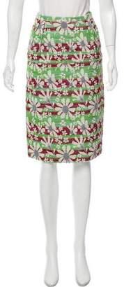 Bottega Veneta Jacquard Silk-Blend Skirt w/ Tags
