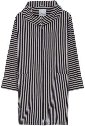Mcverdi Striped Oversize Spring Coat