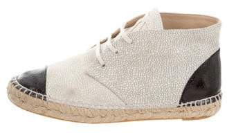 Chanel Cap-Toe Espadrille Sneakers