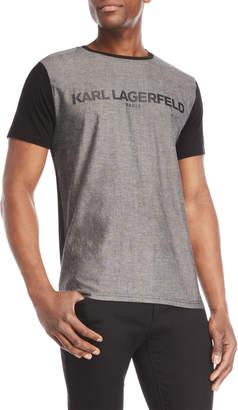 Karl Lagerfeld Paris Logo Color Block Tee