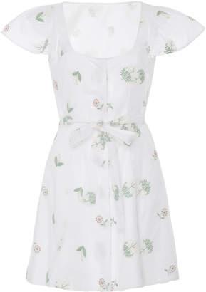 Markarian Exclusive Goa Embroidered Cotton Mini Dress