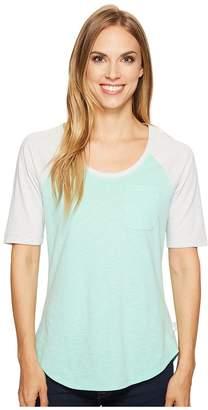 The North Face 3/4 Sleeve Flashdry Mini Stripe Tee Women's Long Sleeve Pullover