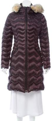 Dawn Levy Fur-Trimmed Down Coat