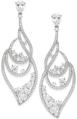 Danori Crystal Cluster & Pave Wavy Drop Earrings, Created for Macy's