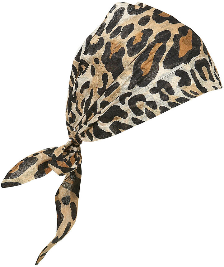 Topshop Large Leopard Print Hairband