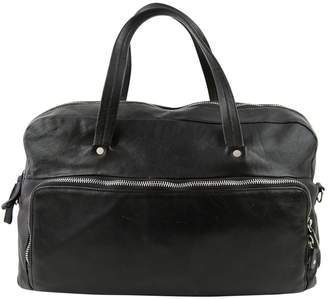 Maison Margiela Vintage Black Leather Travel Bag
