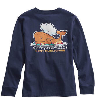 Vineyard Vines Girls Long-Sleeve Thanksgiving Turkey Pocket Tee