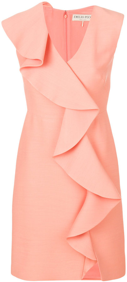 Emilio Pucci rouche detail mini dress