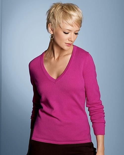 Sutton Studio Exclusive Women's 2-Ply Cashmere V-Neck Sweater