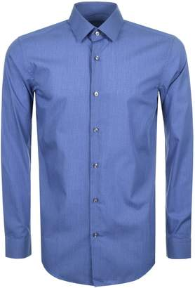HUGO BOSS Slim Fit Isko Shirt Blue