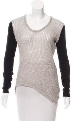 Helmut Lang Asymmetrical Knit Sweater