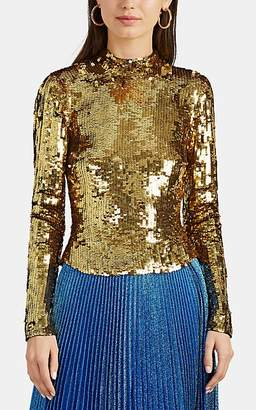 cfd1a6698f388 Osman Women s Sequined Top - Gold
