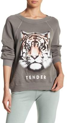 Wildfox Couture Tender Front Graphic Print Knit Sweatshirt