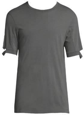 Helmut Lang Solid Sleeve Cutout T-Shirt