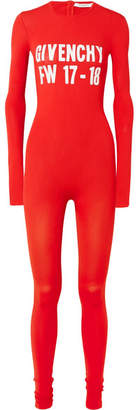 Givenchy Printed Stretch-knit Jumpsuit - Red