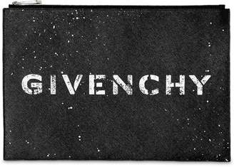 Givenchy Large Stencil Logo Leather Pouch