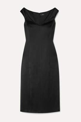 Theory Duchesse-satin Midi Dress - Black